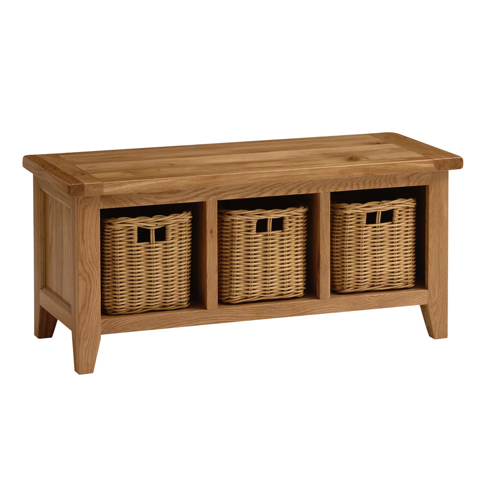 Storage bench with baskets woodland imports wood basket bench with storage capacity white Bench with baskets