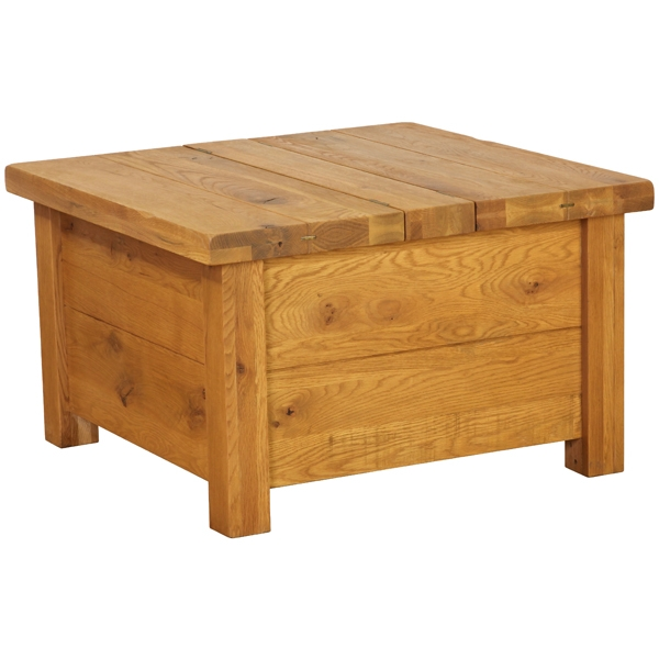 Plank Oak Coffee Table Storage Chest Simply Stunning Furniture