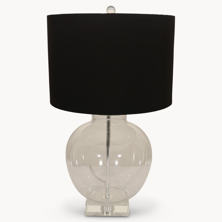 Clifton rounded glass table lamp with black shade simply stunning clifton rounded glass table lamp with black shade aloadofball Gallery