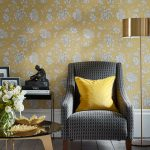 Fabled-Floral-Wallcovering-Yellow