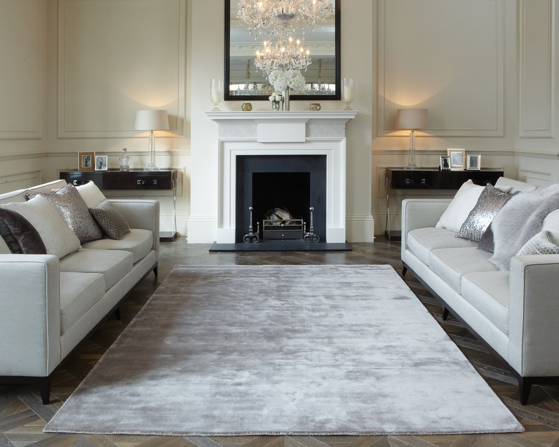 Katherine Carnaby's beautiful Taupe coloured Chrome rug