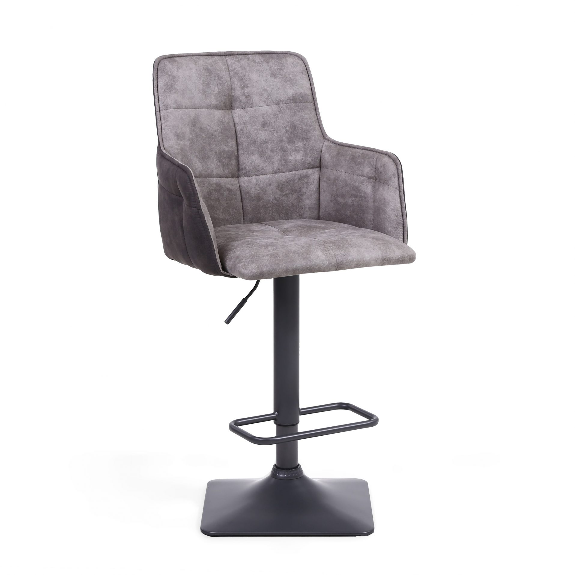 Admirable Orion Suede Effect Light Grey Bar Stool Dailytribune Chair Design For Home Dailytribuneorg